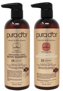PURA D'OR Professional Grade Therapy System Biotin Shampoo & Conditioner